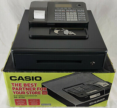 Casio SE-S100 Electronic Cash Register, Retail, Shop Till, Boxed + All Keys.