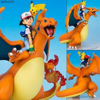 100/% authentic GEM Pokemon Ash Saitoshi Charizard Pikachu 1//8 figure Megahouse