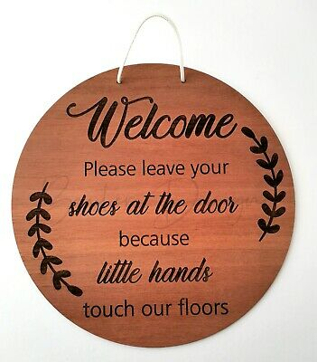Welcome please leave your shoes at the door because little hands touch our floor