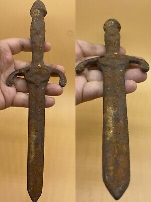 Unique old Ancient Roman Wonderful Bronze Excellent Sword #R