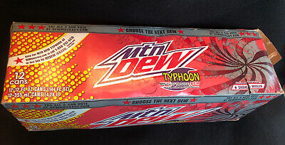 Mountain Dew Typhoon Empty 12-Pack Box Dewmocracy Rare