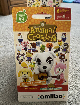 Animal Crossing amiibo Card Pack Series 2 (1 pack w/ 6 cards) SEALED BRAND NEW