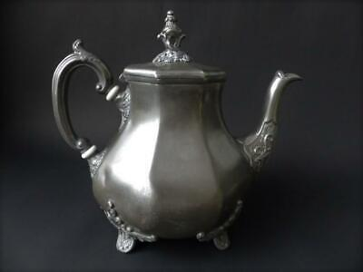 Antique Pewter Teapot - James Allan - Sheffield 1855 +
