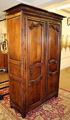 Period 18th Century Walnut Country French Armoire As Is Condition