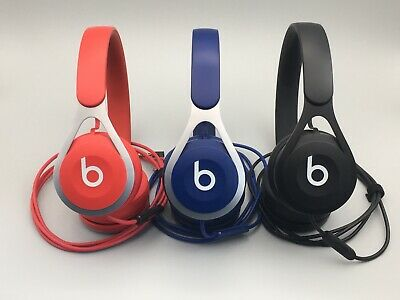 1x Authentic Beats EP Wired Headphones Red Blue Black - Clean!