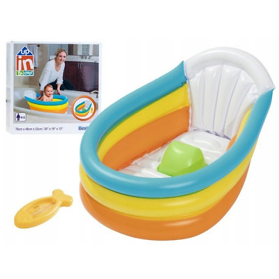 Bestway Portable Inflatable Baby Bath Tub Toddler with Thermometer 0-2 Years