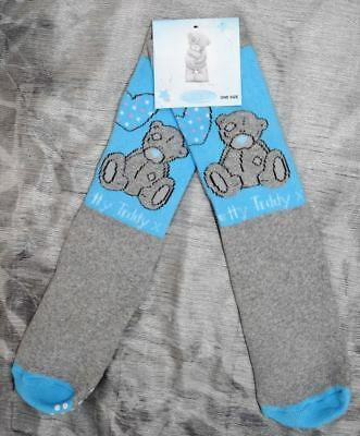 3 X Pairs Tatty Teddy Slipper Socks Age 5-7 Yrs (Me To You) Blue & Grey One Size