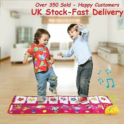 Musical Piano Mat Keyboard Music Blanket Kids Gift Toy Touch Play Learn