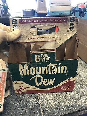 Vintage Mountain Dew Hillbilly One Pint 6 Pack Holder 40's