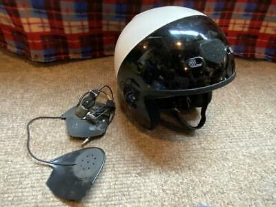 Vintage Shoei RJ-AIR LE Police Motorcycle Helmet w comms (mic & ear pieces)