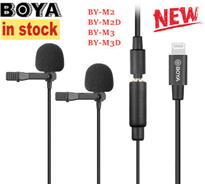 BOYA Cardioid Lavalier Lapel Clip-on Microphone 3.5mm TRS Cable smartphone Mic