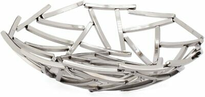 Torre & Tagus Twig Stainless Steel Round Bowl, Small