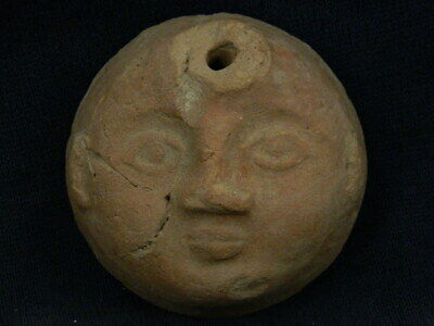 Ancient Teracotta Head Bactrian 300 BC #TR7959