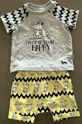 Peter Alexander Baby Boy {DANCE IF YOU'RE HAPPY SNOOPY PEANUTS PJ SET} Size 0