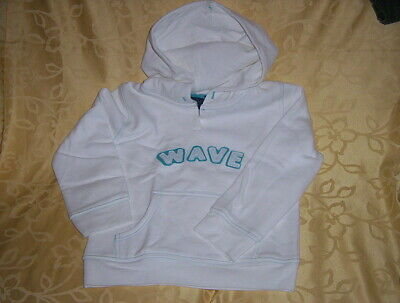 Girls Mini Boden Extremely Soft, White Hoodie Size 5-6 Years