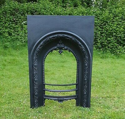 Cast Iron Antique fireplace insert,lovely detailing