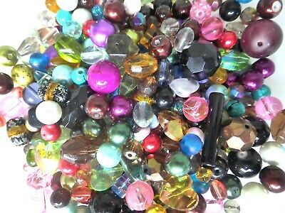 Glass Beads - Mixed Colours - Assorted styles - 4mm - 25mm - Pack of 50gms