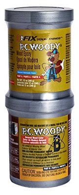 PC Products PC-Woody Wood Repair Epoxy Paste, Two-Part 12oz in Two Cans, Tan