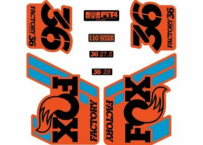 FOX 36 Float 2018-19 Forks Suspension Factory Decals Sticker Adhesiv Orange Blue