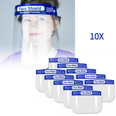 10x Full Face Covering Anti-fog Safety Shield Clear Glasses Eye Helmet