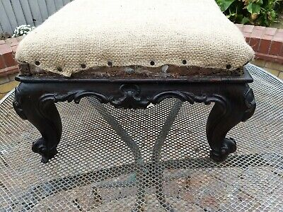 Antique Rosewood Footstool