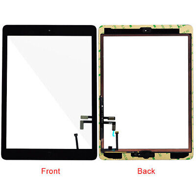 Touch Screen Digitizer Glass Panel+Home Botton For iPad Air 1st Gen A1474 A1475