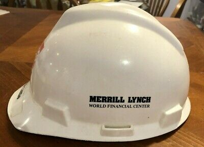 Vintage Merrill Lynch Hard Hat Helmet World Financial Center CRSS