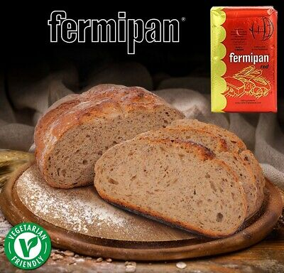 Fermipan Red Instant Dry Dried Yeast Baker Bakery Bread Vegan Make Bread at Home