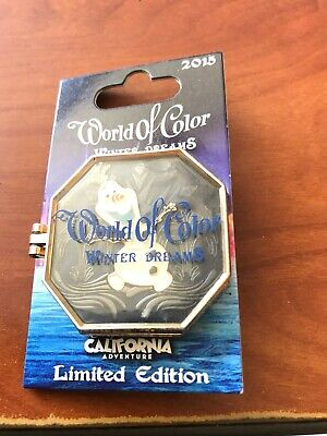 Disney World of Color Winter Dreams Frozen Olaf Hinged Pin 3000 New
