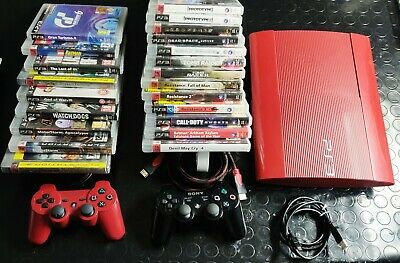 SONY PLAYSTATION 3 SUPER SLIM 500gb edizione limitata + 22 giochi + 2 coltroller