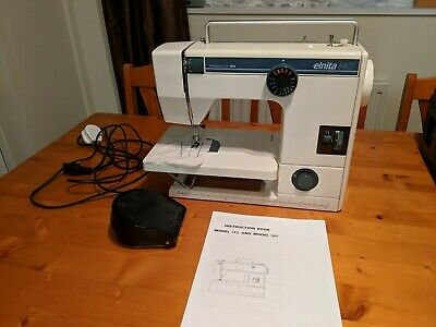 Elna Elnita 140 Sewing Machine + Extension Table & Manual Fully Serviced VGC