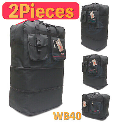"""2 PCS of 40"""" Inches Expandable Spinner Suitcase Luggage Wheeled Bag USA SELLER"""
