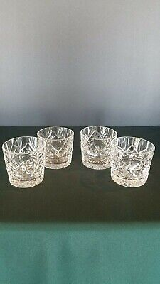4 Waterford Crystal Lismore Double Old Fashioned Glasses VOTIVE CANDLE HOLDERS
