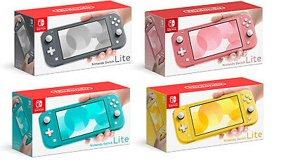 NEW Nintendo Switch Lite Handheld Console (Gray/Yellow/Coral/Turquoise)