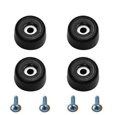 Rubber Feet - 25mm x 15mm - Ideal for Furniture & Cabinets - Pack of 4 + Screws