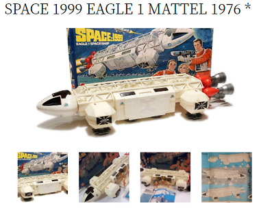 Vintage Space 1999 Mattel Eagle 1  100% Guns Figures Ship Box Instructions