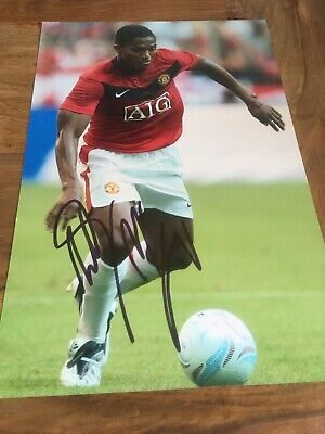 "Hand Signed Antonio Valencia 12x8"" Manchester United Photo,Wigan Athletic"