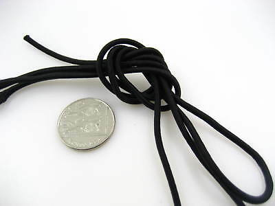 5m of black Round Elastic cord sewing accessories 0.3cm stretch bungee cord