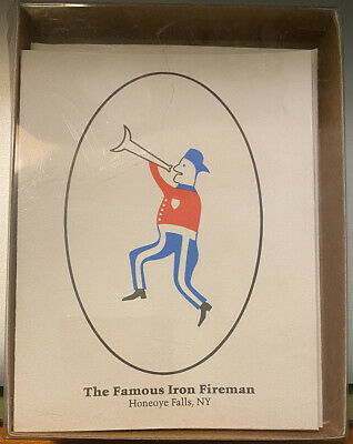 Honeoye Falls NY Iron Fireman Note Cards and Envelopes Pack of 6 Blank