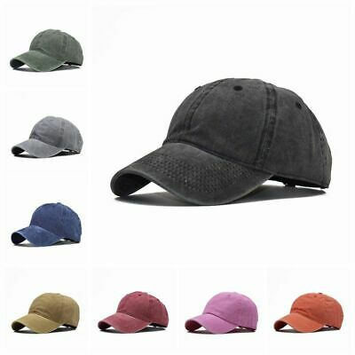 Baseball Cap Plain Soft Washed Adjustable Sun Sports Hat Men Women Cotton Casual