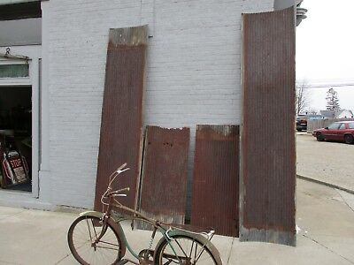 Salvaged galvanized corrugated sheet metal roof tin 65 Sq feet 3 sheets