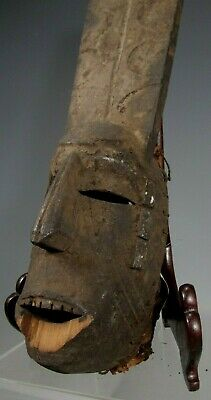 Fine Old Africa African Igbo Nigeria Afikpo region Carved Wood Ceremonial Mask