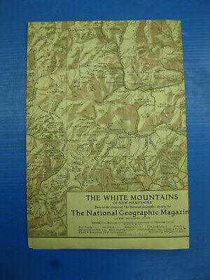 1937 National Geographic map of the White Mountains