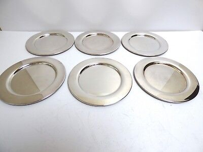 New Set Of 6 Mint Matching Bread And Butter Plates Silver-Plated