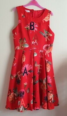 Baker by Ted Baker Girls' Red Floral Print Dress