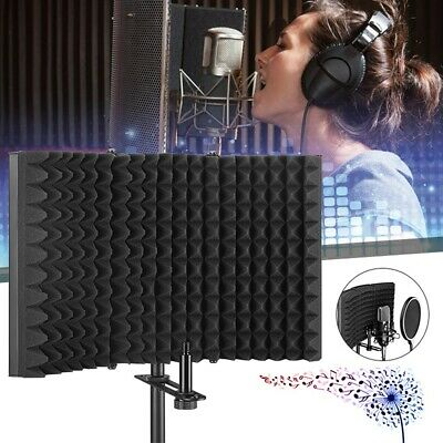 Foldable Microphone Isolation Shield Studio Acoustic Recording Sound Absorber
