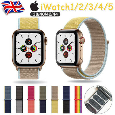 Woven Nylon Sport Loop Band Strap Bracelet For iWatch Apple Watch Series 5/4/3/2