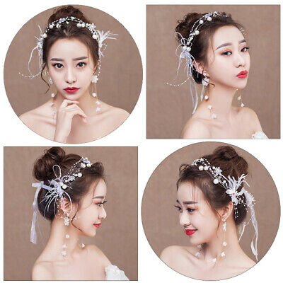 Women's Flower Fairy Hairband Headband Floral Bride Butterfly Crown Wedding Prom