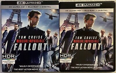 Mission Impossible 6 Fallout 4K Ultra Hd Blu Ray 3 Disc Set + Slipcover Sleeve