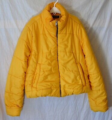 Girls New Look Cameo Rose Canary Yellow Warm Puffa Padded Coat Age 14-15 Years